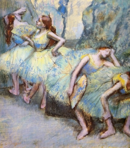 "Image: Degas, ""Ballet Dancers In The Wings"""