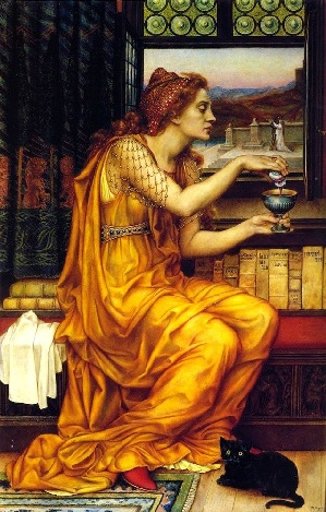"""The Love Potion"" by Evelyn De Morgan."