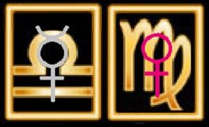 The Mercury/Venus Mutual Reception: Mercury will be in Libra; Venus in Virgo.