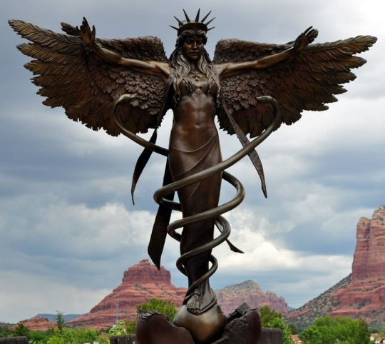 """Caduceus"" by sculptor James Muir."