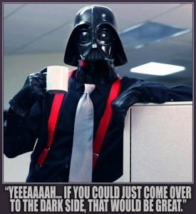 Mars conjunct Pluto in Capricorn: Darth Vader meets Office Space!
